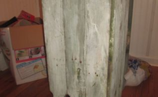 how to make an old fence into a plant stand, fences, gardening, how to, Started with an old fence section