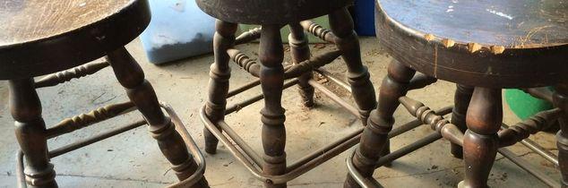 q upcycle idea on stools