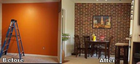 faux brick wall concrete masonry. Black Bedroom Furniture Sets. Home Design Ideas