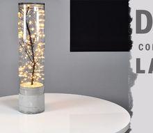diy indoor outdoor concrete lamp, concrete masonry, lighting