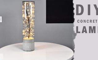 diy indoor outdoor concrete lamp, concrete masonry, lighting