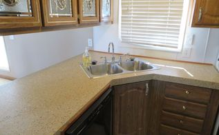 how to repair a mobile home counter top, countertops, home decor, how to