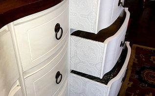 how to add vintage y texture to your old dresser, how to, painted furniture
