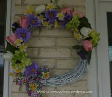 spring wreath tutorial, crafts, how to, wreaths