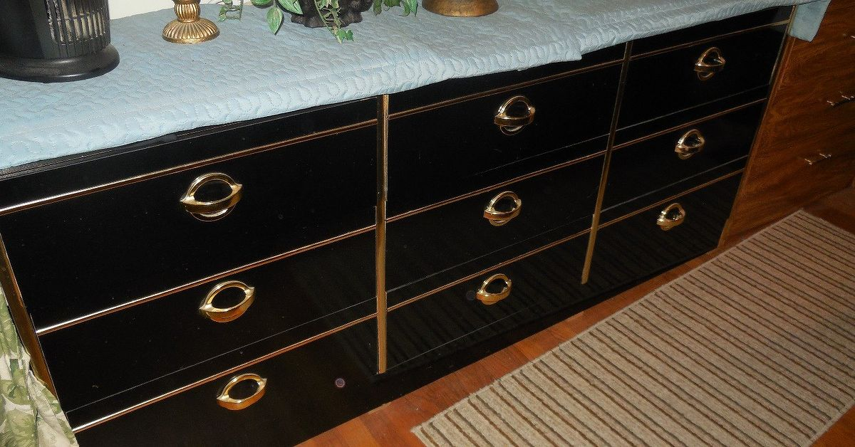 What Can I Do To Fix This Black Lacquered Dresser Hometalk