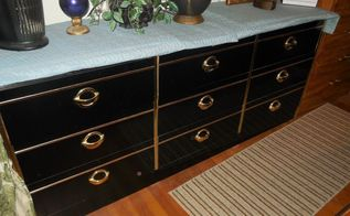 q what can i do to fix this black lacquered dresser, painted furniture