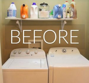 s 11 ways to update your dark and dingy laundry room for under 100, laundry rooms