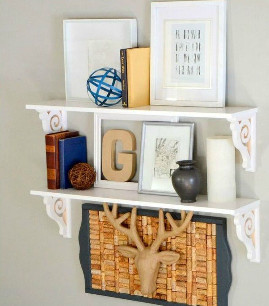 Green Shelves Canisters Diy Island Wood Nailed To: 14 Amazing Ways Brackets Made Homemade Shelving Fun