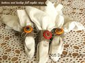 q car afternoon cardboard tube napkin rings with burlap, crafts