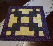 quick squares quilted table topper, painted furniture