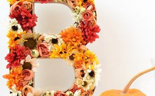 diy 3d floral letters