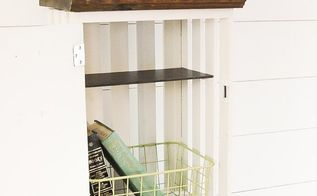 how to build diy wood crate lockers, how to, storage ideas