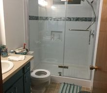 bathroom makeover elder tub gone, bathroom ideas