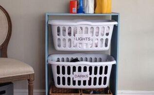 laundry basket station, crafts