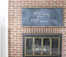 easy farmhouse chalkboard, chalkboard paint, crafts