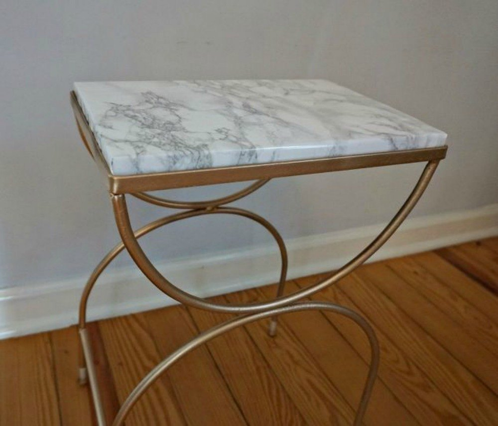 turn a roadside find into a glam side table - Home Decor For Cheap