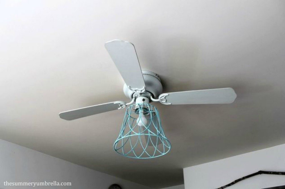 s 15 ways you never thought of using light fixtures in your home, home decor, Repaint one and add it to a ceiling fan