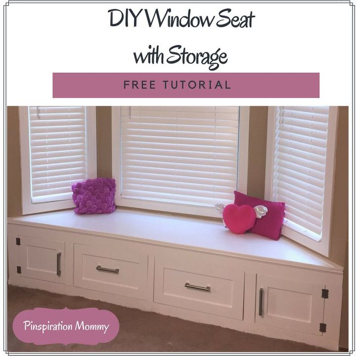 Diy Bedroom Storage Bench Seat Diy Woodworking Projects: DIY Built-in Window Seat With Drawer And Cabinet Storage