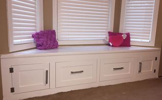 diy built in window seat with drawer and cabinet storage, closet, kitchen cabinets, kitchen design, storage ideas