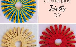wooden trivets diy, Final look