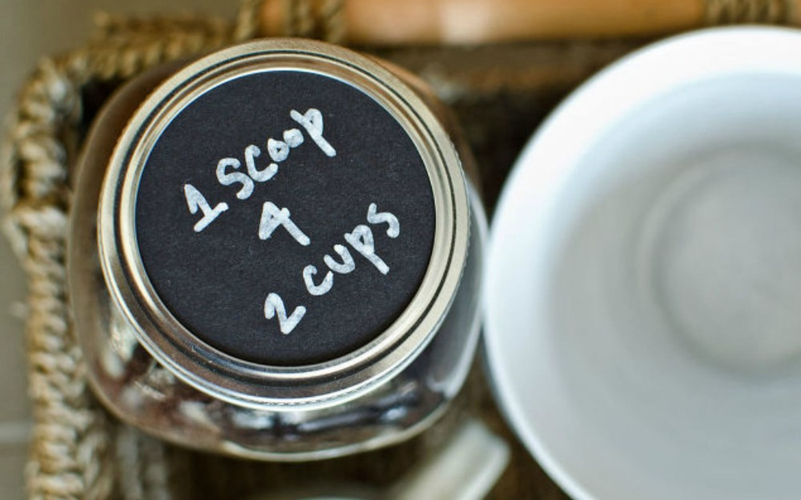 s get rid of kitchen countertop clutter with 13 clever mason jar ideas, countertops, kitchen design, mason jars, organizing, Make it the center of your coffee station