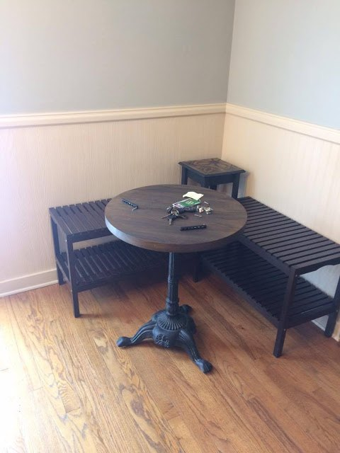 How to create a breakfast nook using ikea benches hometalk - Breakfast nook furniture ikea ...