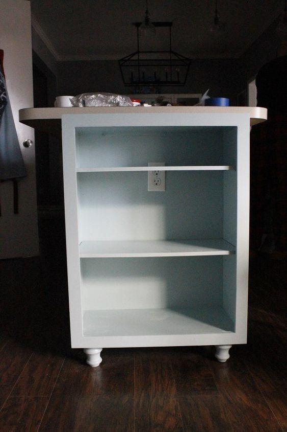 Extend Your Kitchen Island With An Open Bookshelf Hometalk
