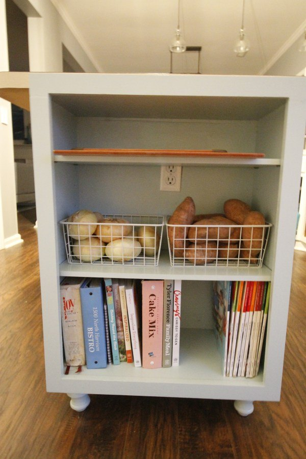Extend Your Kitchen Island With An Open Bookshelf Hometalk
