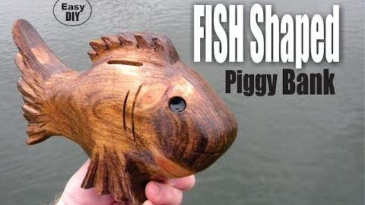 diy fish shaped piggy bank