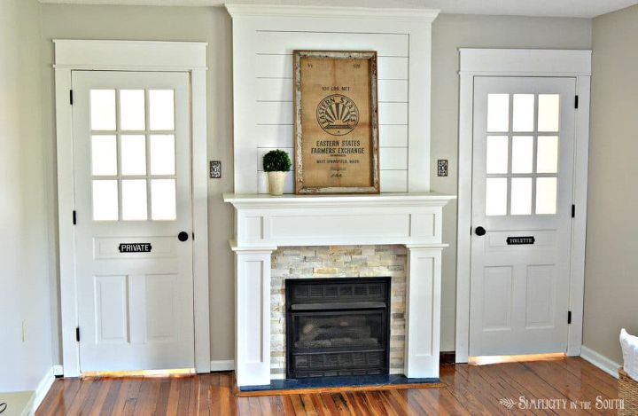 Farmhouse Fireplace Surround Makeover On A Budget Hometalk