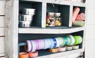 wood vintage toolbox turned craft storage, crafts, storage ideas