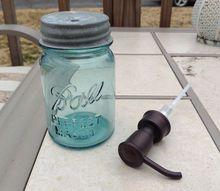antique mason jar bath accessories, bathroom ideas, mason jars, repurposing upcycling