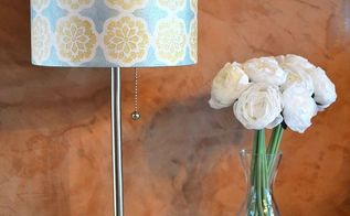 diy how to fabric lampshade makeover, reupholster