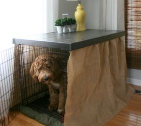 diy dog kennel table top painted furniture