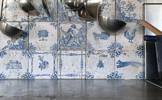 french antiquity tile backsplash on a home depot budget, home decor, kitchen backsplash, kitchen design