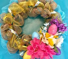 easter mesh wreath diy from dollar tree finds, crafts, wreaths