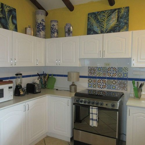 Kitchen Tiles Painted Over can you paint over old kitchen tile? | hometalk