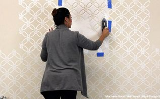 how to emboss macrame knots wall stencils with joint compound, how to