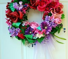 spring wreath cheat, crafts, wreaths
