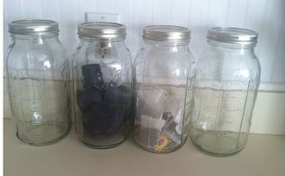 s get rid of kitchen countertop clutter with 13 clever mason jar ideas, countertops, kitchen design, mason jars, organizing