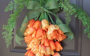 spring carrot door hanger, doors