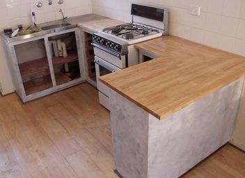 How To Make A Kitchen Island With A Concrete Countertop Start Finish Hometalk