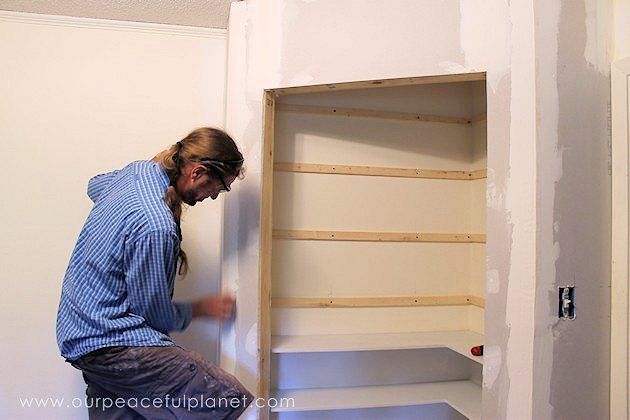 how to build corner pantry shelves