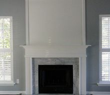 simple but dramatic diy fireplace update, fireplaces mantels