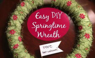 easy diy springtime wreath, crafts, wreaths