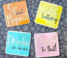 funny coasters to diy