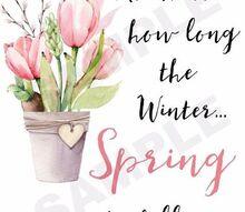 three free spring printables