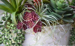 spring succulents for the front door, doors, flowers, gardening, succulents
