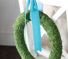 easy diy moss wreath, crafts, wreaths