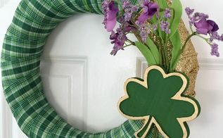 how to make a st patrick s day wreath in 30 minutes, crafts, how to, seasonal holiday decor, valentines day ideas, wreaths
